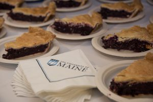 Plated blueberry pie