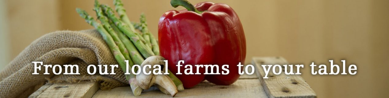 Local Page banner with red pepper and veggies