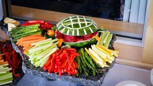 Arrangement of veggies