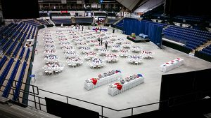 Alfond set up with tables