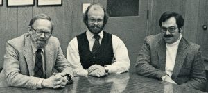Photo of CFRU scientists Maxwell McCormack, Bob Seymour, and Mark Houseweart