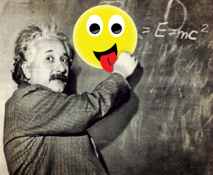 Einstein with AR Emoticon