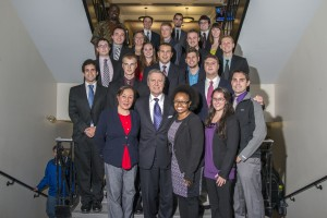 Former Secretary of Defense William Cohen speaks with UMaine SPIA students, 2013
