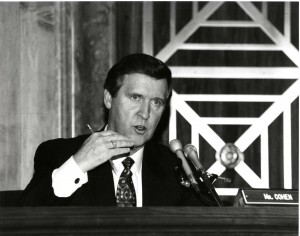 William Cohen speaking, early political career