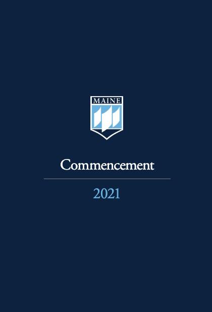 Commencement 2021 program