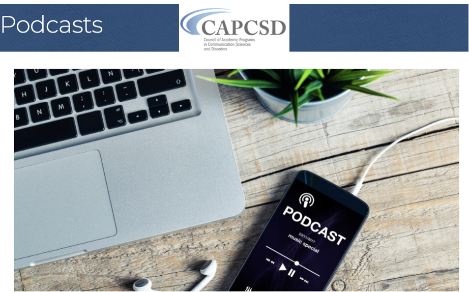 featured image for Dr. Walker invited by CAPCSD for podcast presentation on Speech Therapy Telepractice Training