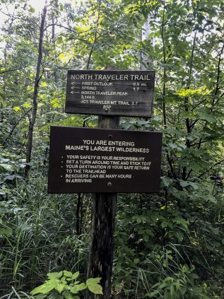 Photo of trail signs in Baxter State Park
