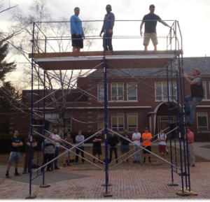 safety class scaffold demonstration