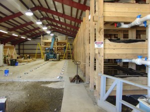 worm raceways under construction