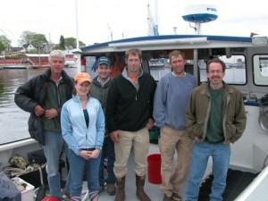 Resrach crew on vessel