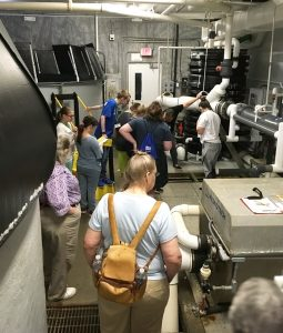 2018 interns learn about recirculating aquaculture systems
