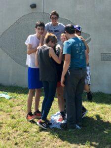 CCAR Interns work on team building