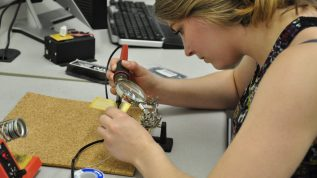 image of Katelyn Arduino working