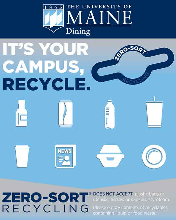 Graphic showing how students can help recycle
