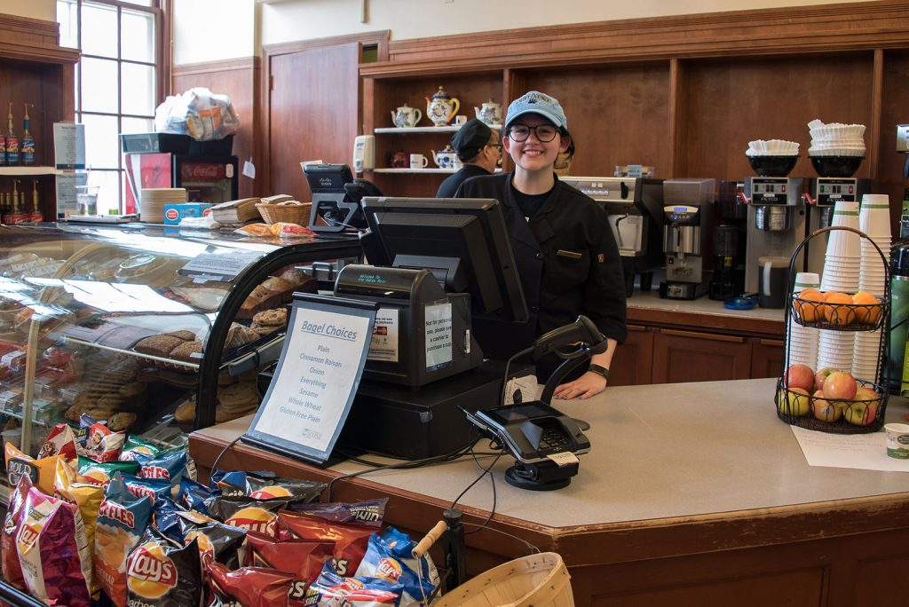 Oakes Room employee, University of Maine, Fogler Library, coffee