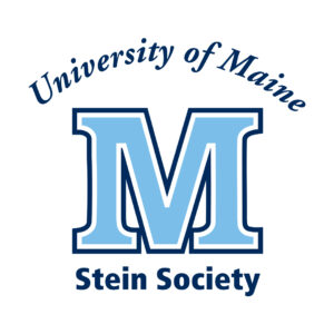 University of Maine Stein Society logo with blue M