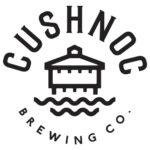 Cushnoc Brewing Co round black and white logo