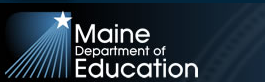 Maine Department of Education logo - black