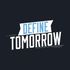 """Define Tomorrow"" UMaine Admissions Logo"