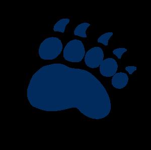 Navy blue Bear paw