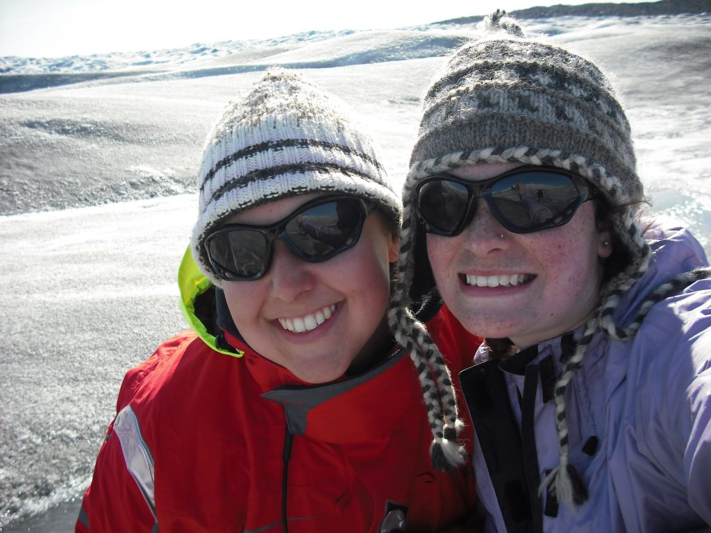 field friends on an ice sheet