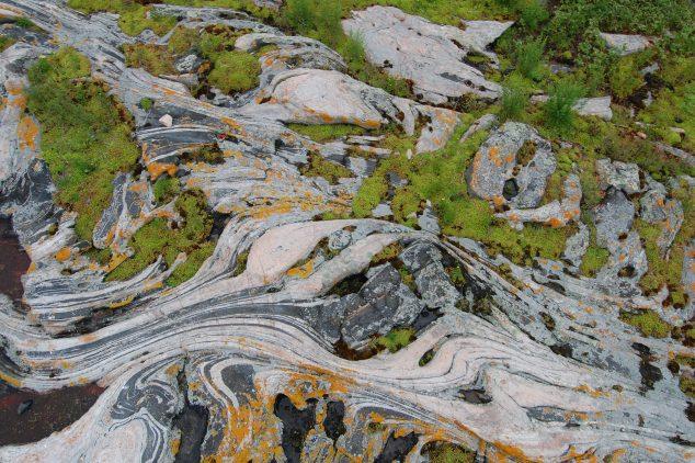 deformed bedrock