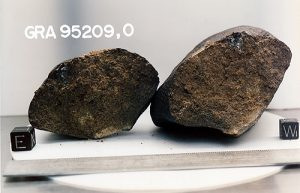 Meteorite from Graves Nunatak containing chopinite