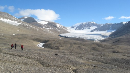 Looking west towards the Royal Society Range from lower Salmon Valley. Salmon Glacier is visible.