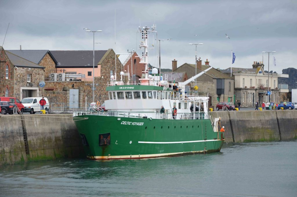 Research Vessel Celtic Voyager in Howth, Republic of Ireland for layover.