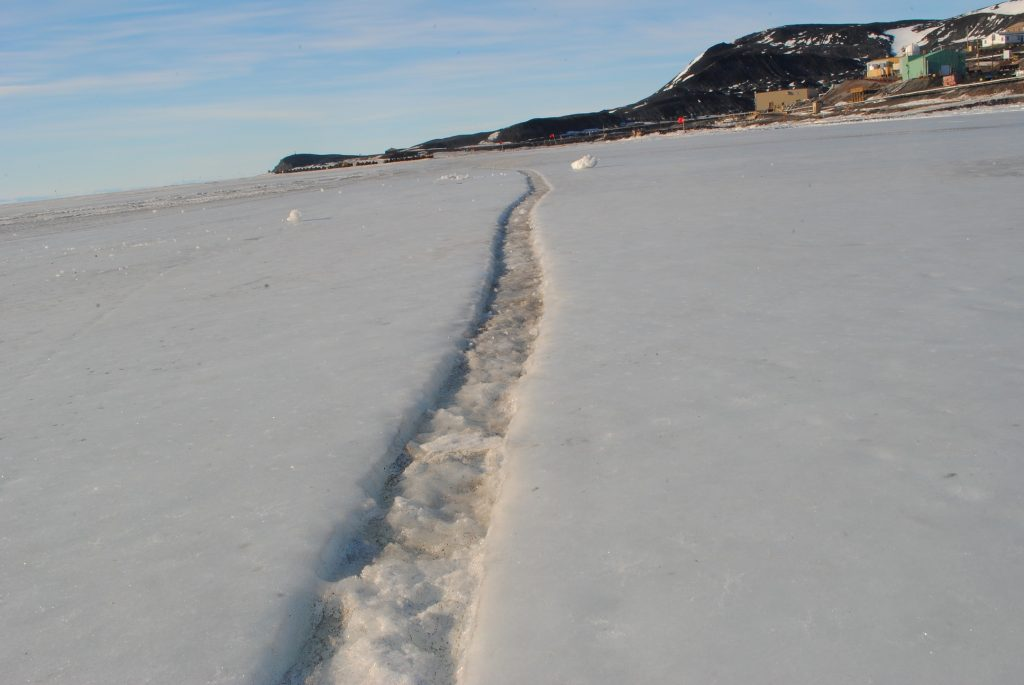 Crack in sea ice