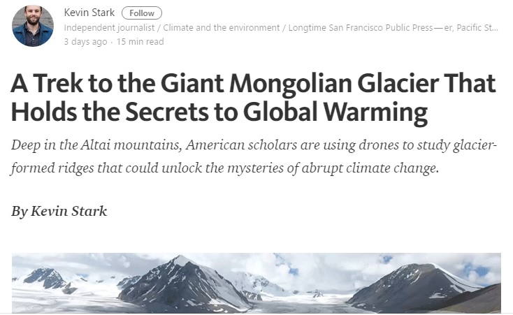 A Trek to the Giant Mongolian Glacier That Holds the Secrets to Global Warming