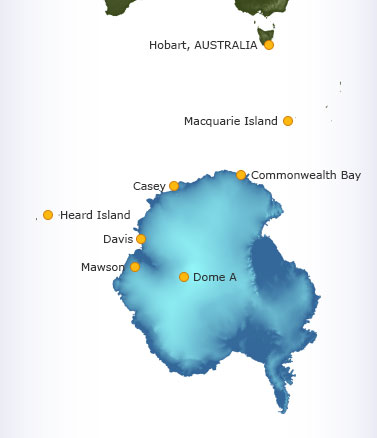 Site Of Recently Discovered New Minerals Protected School Of - Antarctic research stations map