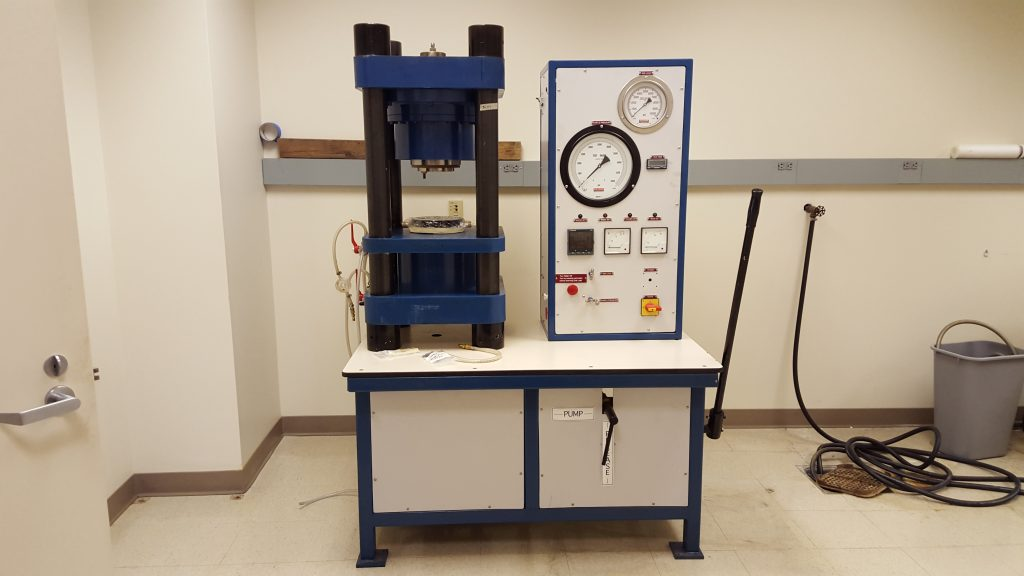 This is Betty, a Bristol-style piston cylinder apparatus. Betty recently came to UMaine from Boston University