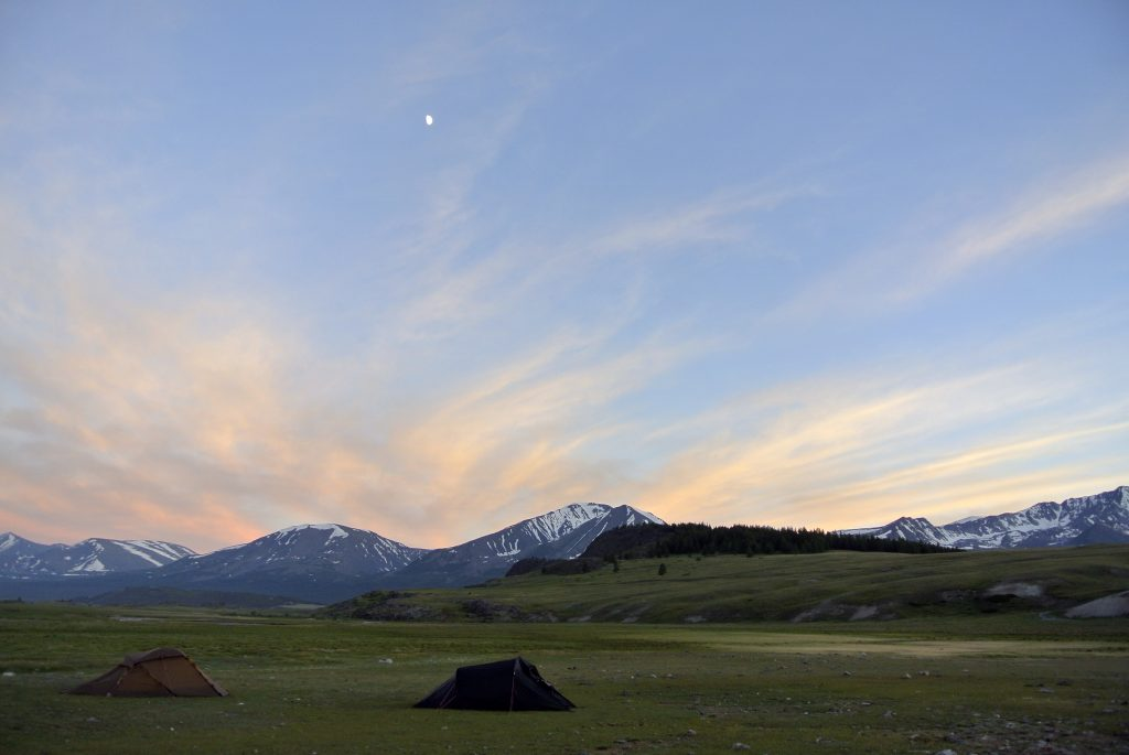 Sunset in the Mongolian Altai