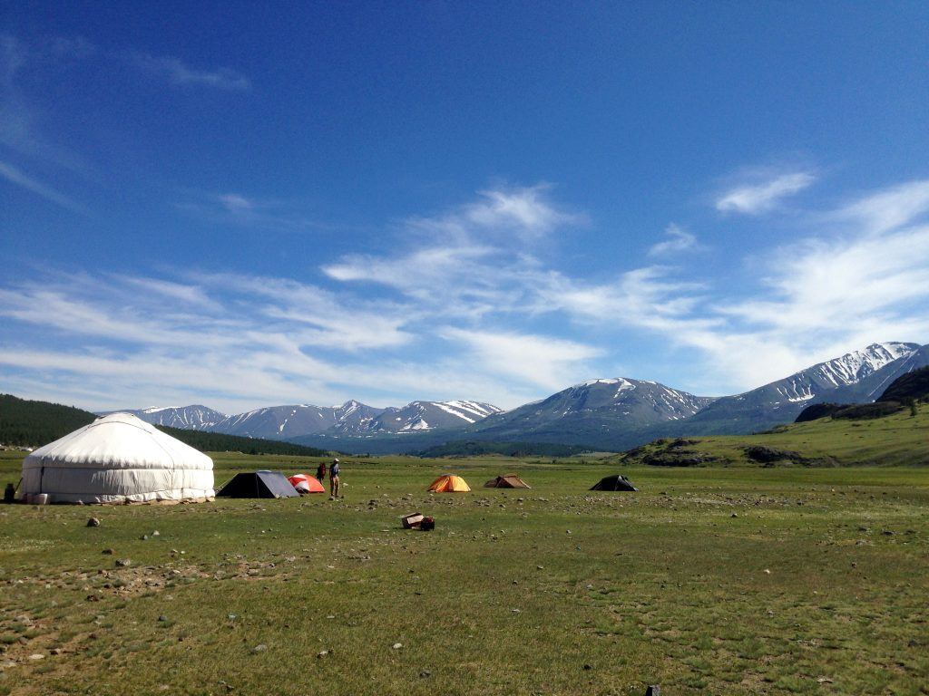 Base camp in the Mongolian Altai