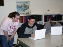 3 College of Education and Human Development students use the iBooks