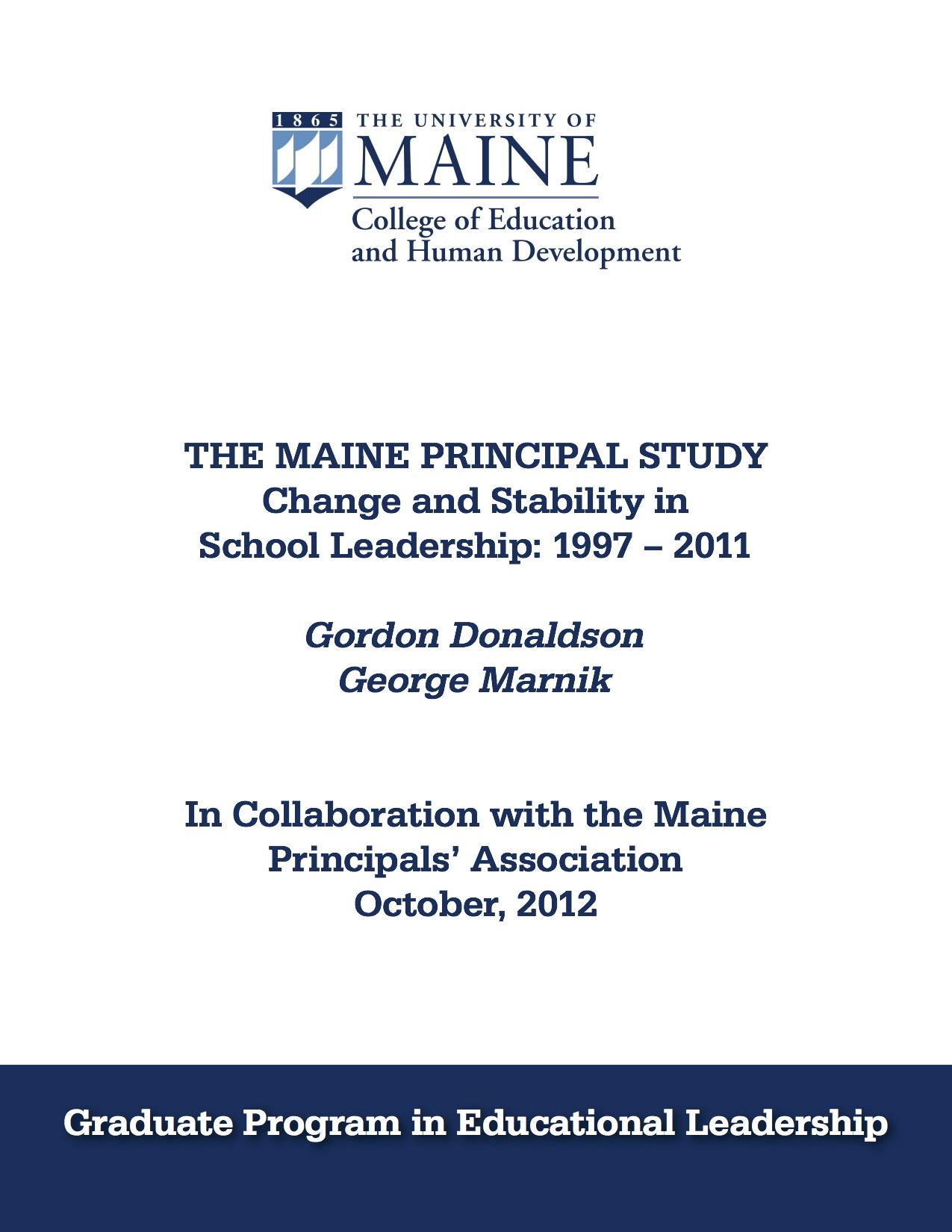 Maine Principal Study picture