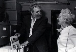 """P05790: Photo of Edward """"Sandy"""" Ives and Helen Creighton."""