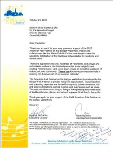 AFF letter