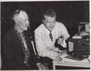 P246_Sandy-Ives-interviewing-John-Holland-at-1st-MFF-1958