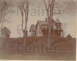 P886: A large, elaborate Victorian house in East Eddington; taken c1890.