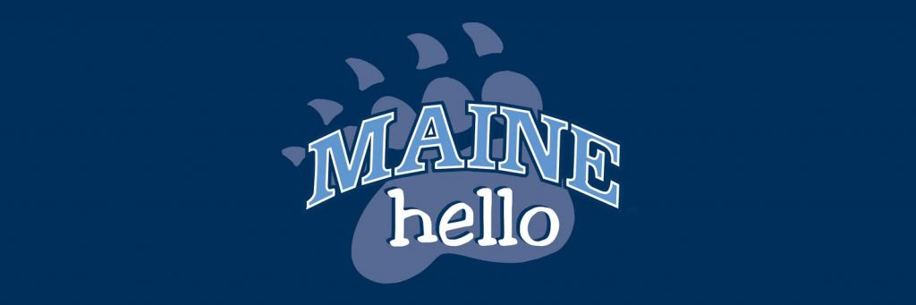 Picture of Maine Hello Logo with Bear Paw