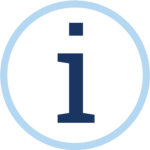 icon of lowercase I in circle