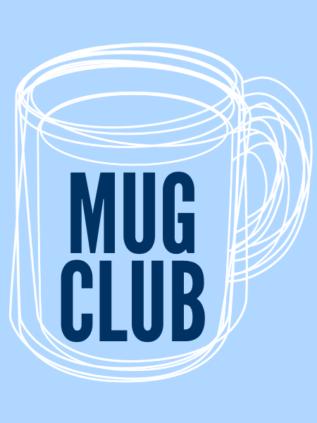 """drawing of a mug with words """"Mug Club"""" written inside"""