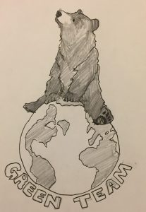 bear sits on planet