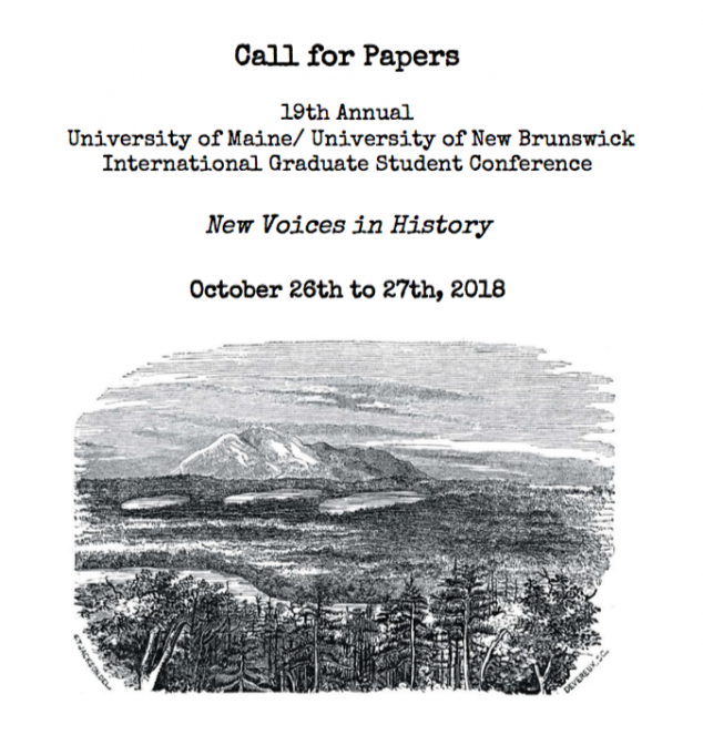 Call for Paper - UMaine-UNB 2018