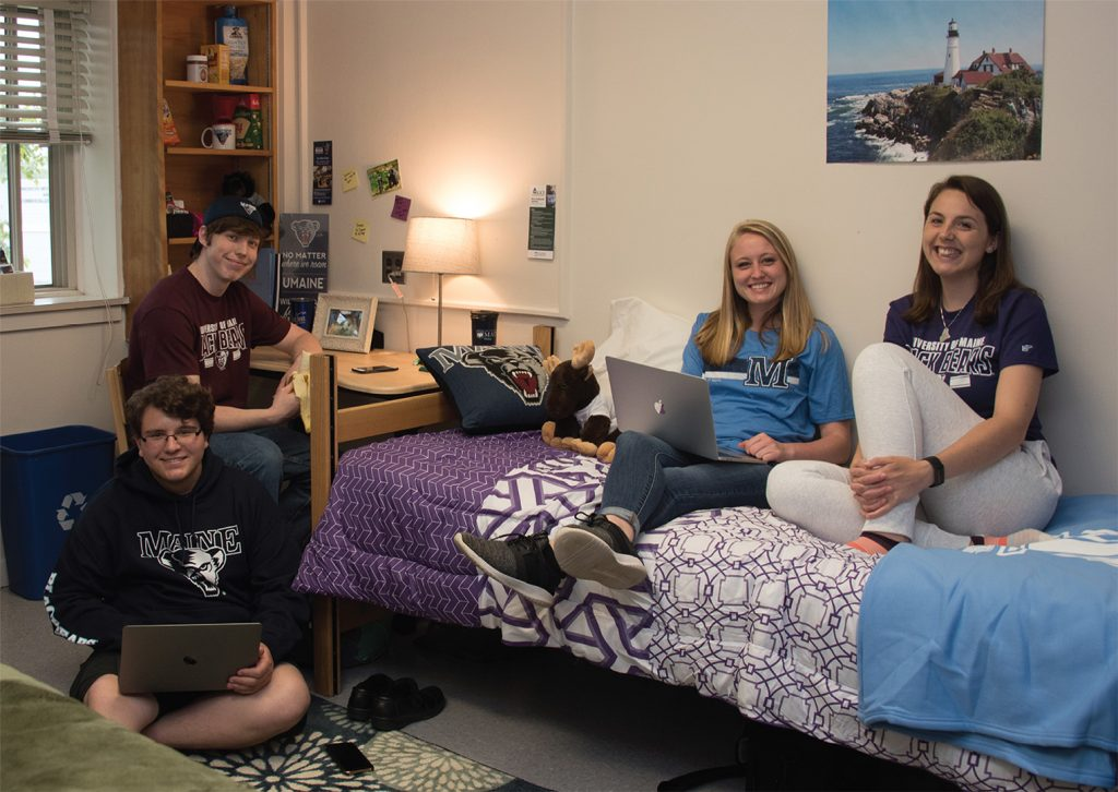 Housing residence life students in Androscoggin Hall University of Maine