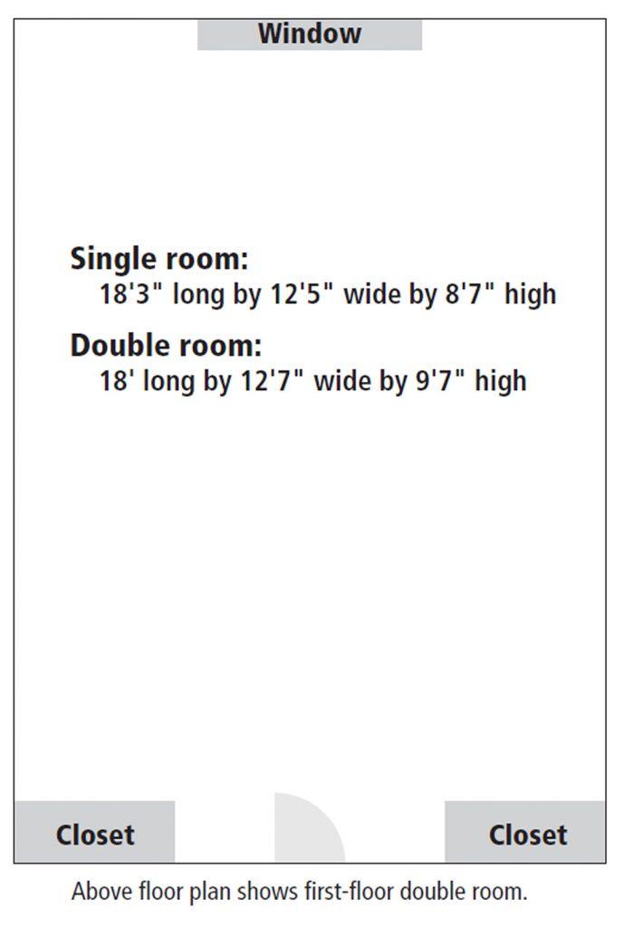 Balentine Hall room floor plan