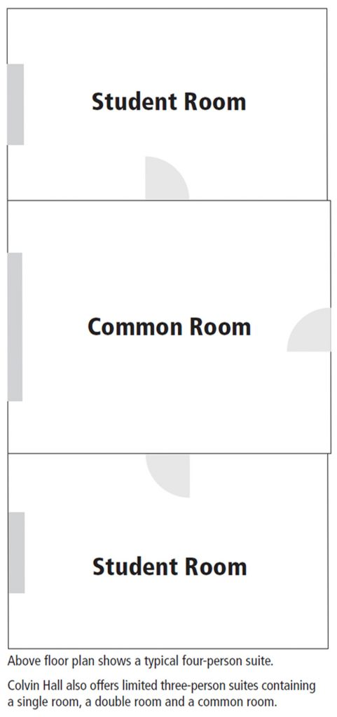 Colvin Hall suite floorplan