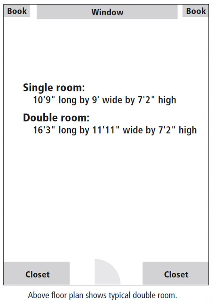 Kennebec Hall room floor plan